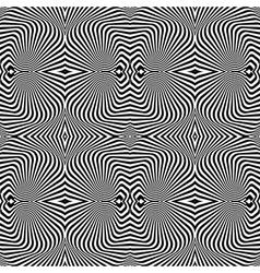 Design seamless uncolored vortex pattern vector image