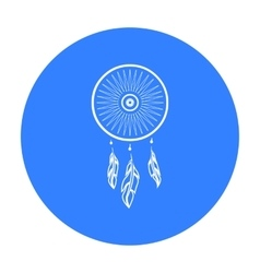 Dreamcatcher icon black singe western icon from vector