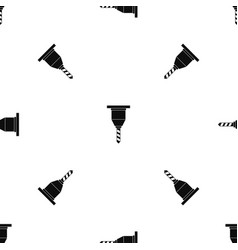 Drill bit pattern seamless black vector