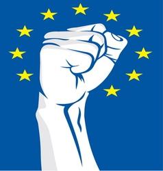 EU fist vector image vector image