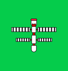 Flat icon design collection space station vector