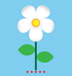 flower icon color fill style vector image