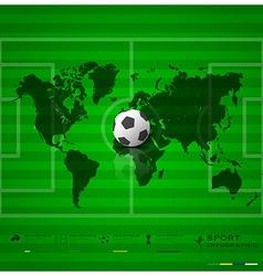 Football field sport infographic background design vector