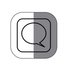 fugure sumbol chat bubble icon vector image vector image
