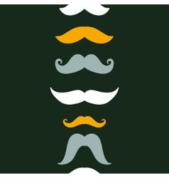 Fun silhouette mustaches vertical seamless pattern vector