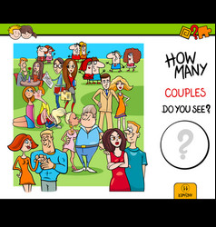how many couples educational game vector image vector image