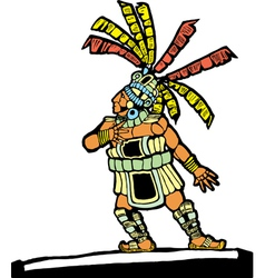 Mayan ballplayer vector