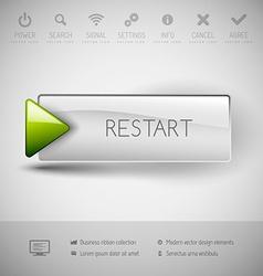 Modern plastic button vector
