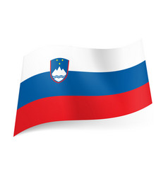 National flag of slovenia white blue and red vector