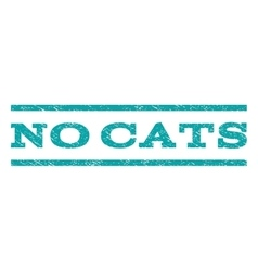 No cats watermark stamp vector