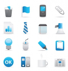 office icons indigo vector image vector image