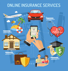 Online insurance services vector