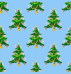 Pine tree cartoon green winter holiday vector