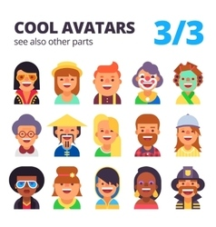 Set of flat avatars part 3 see also other parts vector