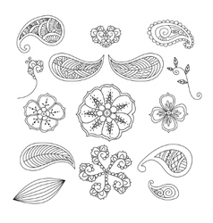 Set of Mendie elements vector image vector image