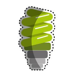 Sticker green save bulb energy icon vector