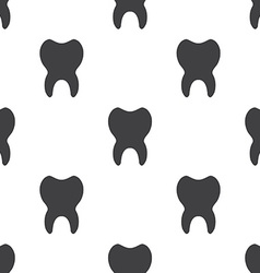 Tooth seamless pattern vector