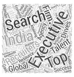 Top talent drives the global economy word cloud vector