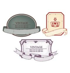 vintage emblems set vector image vector image