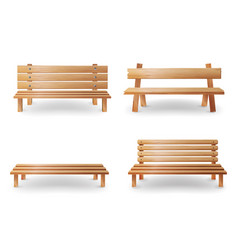 wooden bench realistic smooth vector image vector image