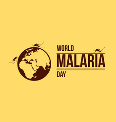 World malaria day collection stock vector