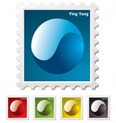 yang yang stamp vector image vector image