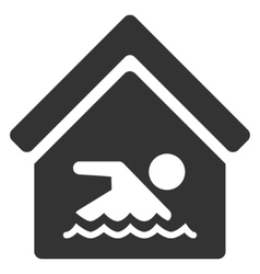 Indoor water pool flat icon vector