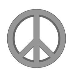 Peace symbol sign vector
