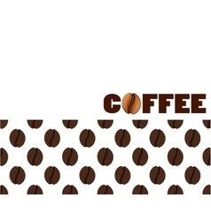 Isolated abstract coffee beans background vector
