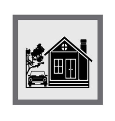 Beauty home icon vector