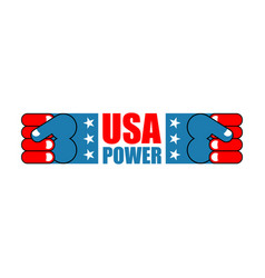 Usa patriot fist emblem sign of strong america vector