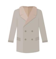 warm mans coat flat style vector image