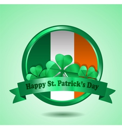 St patrick badge vector