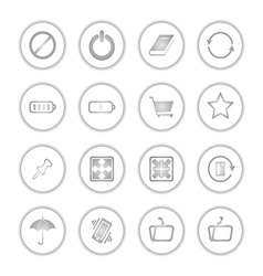 Modern social media buttons with soft shadow vector