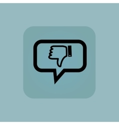 Pale blue dislike message icon vector