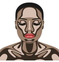 Beauty woman with chocolate on her face vector