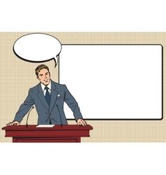 Business presentation a scientific lecture vector