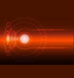 Abstract digital technology orange background vector