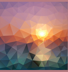 Abstract triangular background bright polygon vector