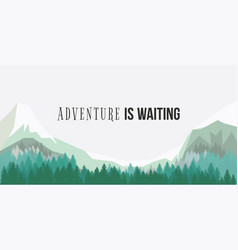 Adventure is waiting poster vector
