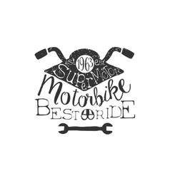 Best ride vintage emblem vector