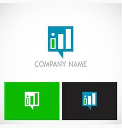 business finance stock progress logo vector image vector image