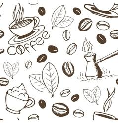Coffee hand drawn seamless pattern vector