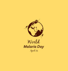 Collection world malaria day style vector