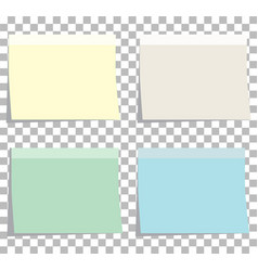 Colorfull sticky notes blank sticky notes set vector