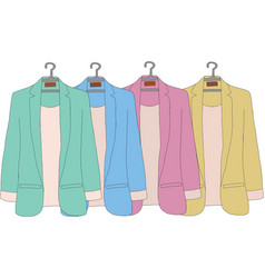 Colourful of women jacket vector image