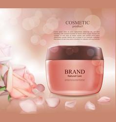 cosmetic ads postermoisturizing nourishing cream vector image