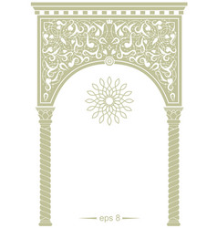 cover in oriental style vector image vector image