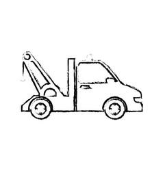 Crane truck service icon vector