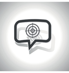 Curved aim message icon vector image